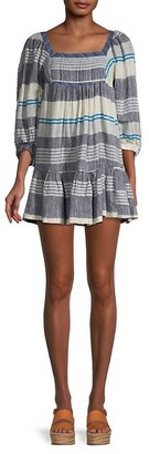 Free People Striped Peasant Dress