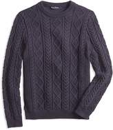 Brooks Brothers Boys' Cable-Knit Crewneck Sweater