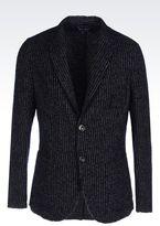 Armani Jeans Slim Fit Jacket In Bouclé