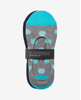 Express 2-PACK solid and dot print no-show socks