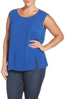 Sejour Plus Size Women's Crepe Georgette Shell