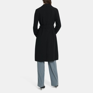 Theory Oaklane Trench Coat in Crepe