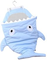 Finerolls Cute Cartoon Shark Baby Sleep Bag Warm Baby Sleep Sack for Winter Used on Strollers Bed Swaddle Blanket Wrap - 92 * 66CM, Suitable for about 0-36M Baby