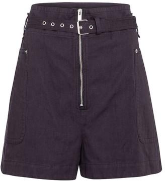Etoile Isabel Marant Parana cotton and linen Bermuda shorts
