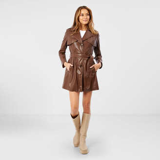 Sam Edelman Belted Leather Trench Coat