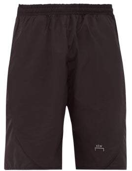 A-Cold-Wall* A Cold Wall* Logo Print Technical Shell Shorts - Mens - Black
