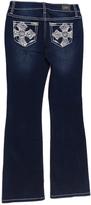 ZCO Dark Blue Cross-Pocket Bootcut Jeans - Girls