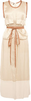 Marni Preorder Washed Twill Viscose Sleeveless Dress