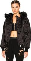 Unravel Bomber Fur Hooded Jacket
