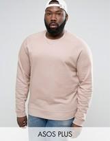 Asos PLUS Sweatshirt In Pink