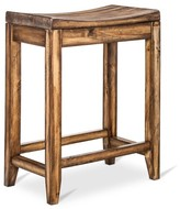"Mudhut Perdana Rustic Saddle Seat 24"" Counter Stool Hardwood/Brown"