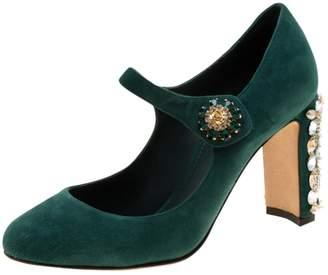 Dolce & Gabbana \N Green Suede Heels