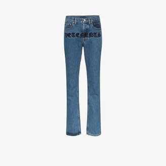 Vetements Gothic Magic straight leg jeans