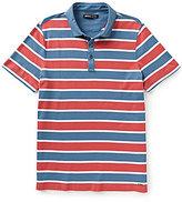Michael Kors Towel Horizontal-Stripe Short-Sleeve Polo Shirt