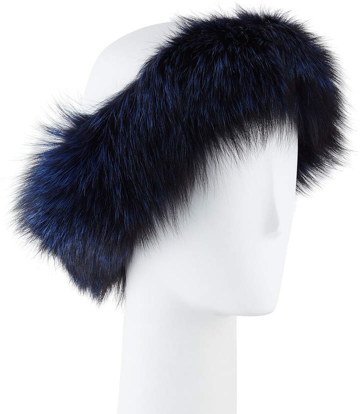 Gorski Silver Fox Fur Headband