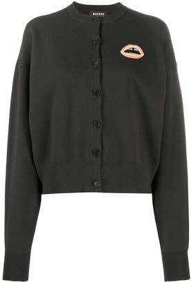 Markus Lupfer May beaded lip cardigan