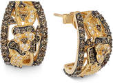 LeVian Le Vian Chocolatier® Chocolate Diamond and White Diamond Earrings (1-3/4 ct. t.w.) in 14k Gold