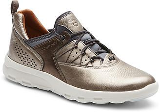 Rockport Women's Sneakers METALLIC - Metallic Let's Walk Bungee Leather Sneaker - Women