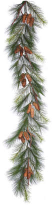 "Vickerman 6'x15"" Bavarian Pine Garland With Cones"