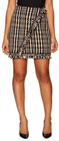 Christian Dior Cashmere Fringe Mini Skirt
