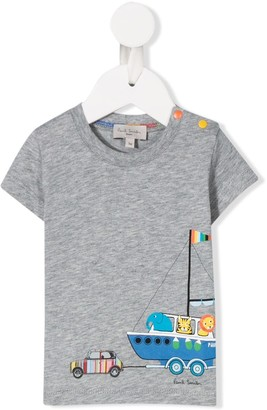 Paul Smith boat print T-shirt