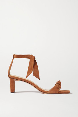 Alexandre Birman Clarita Bow-embellished Suede Sandals - Brown