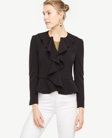 Ann Taylor Draped Ruffle Jacket