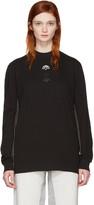 adidas Originals by Alexander Wang Black Long Sleeve Logo T-Shirt
