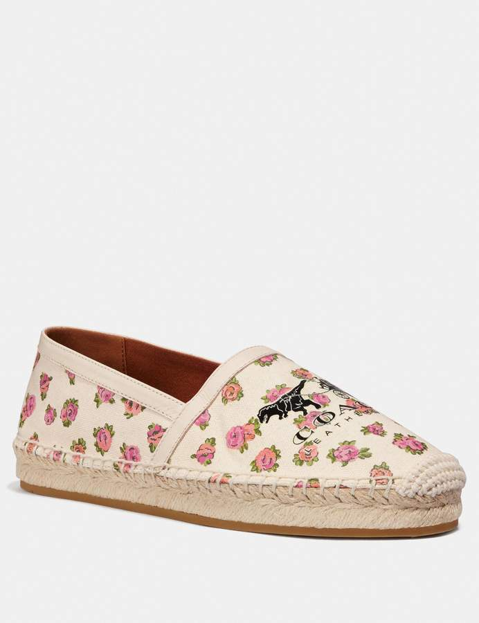 Coach Casey Espadrille With Mini Vintage Rose Print