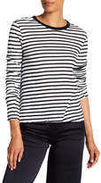 PAM AND GELA Stripe Lace-Up Back Tee
