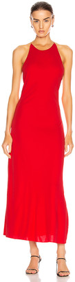 Rosetta Getty Cross Back Slip Dress in Red | FWRD