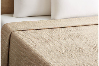 Belle Epoque Skip-Stitch Coverlet - Taupe Twin