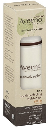 Aveeno Active Naturals Positively Ageless Youth Perfecting Day Moisturizer, SPF 30