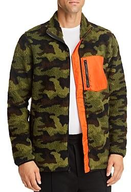 Pacific & Park Camo Sherpa Regular Fit Fleece Jacket - 100% Exclusive