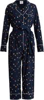 Stella Jean Circle-print silk-crepe jumpsuit