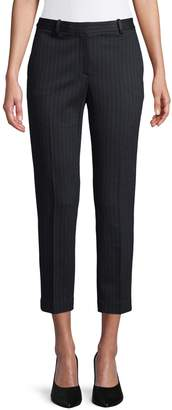 Theory Striped Cropped Trouser