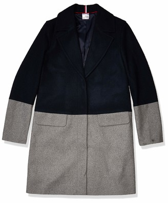 Tommy Hilfiger Women's Adaptive Wool Coat With Hidden Snap Closure