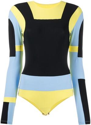 MM6 MAISON MARGIELA Panelled Colour-Block Bodysuit
