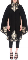 Alexander McQueen Embroidered wool cape