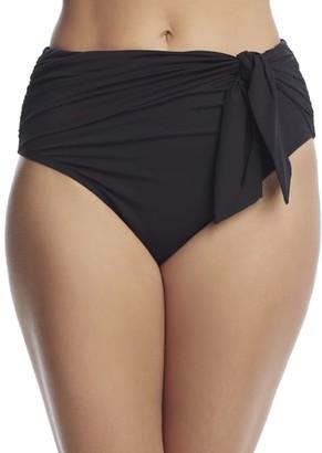 Bleu Rod Beattie Urban Goddess High-Waist Tie Bikini Bottom
