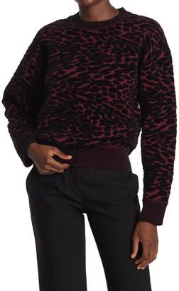 Diane von Furstenberg Cassia Leopard Print Sweater
