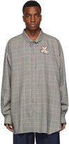 Gucci Grey Plaid Flying Pig Shirt