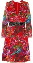 Matthew Williamson Bead-Embellished Printed Silk-Chiffon Dress