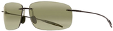 Maui Jim Smoke Gray Breakwall Polarized Square Sunglasses