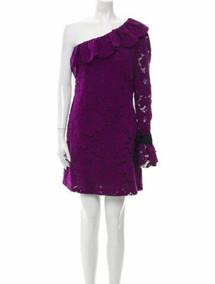 Philosophy di Lorenzo Serafini Lace Pattern Mini Dress Purple