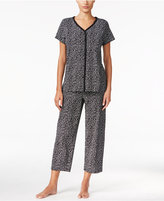 Charter Club Loop-Trimmed Top and Cropped Pants Pajama Set, Only at Macy's