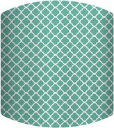 Asstd National Brand Teal Pattern Drum Lamp Shade