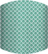 Asstd National Brand Teal Pattern Drum Lamp Shade