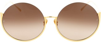 Linda Farrow Olivia Round Sunglasses
