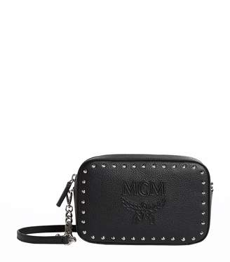 MCM Leather Studded Chansell Camera Bag